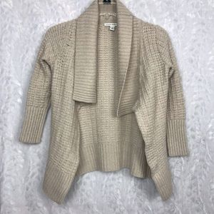 Banana Republic cream open knit cardigan Small
